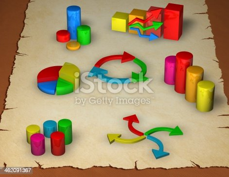 istock business graphs on paper sheet, analyzing statistics concept background 462091367