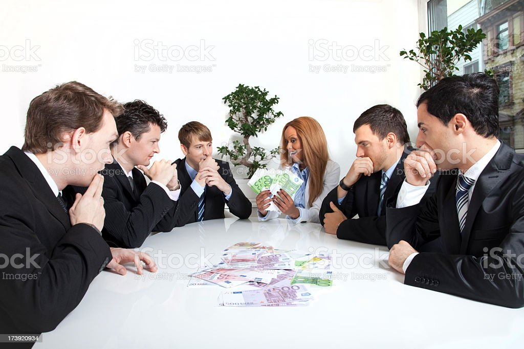 Business Greed royalty-free stock photo
