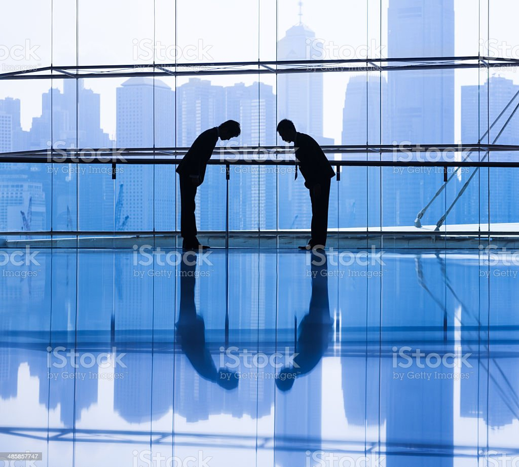 Business Greeting stock photo