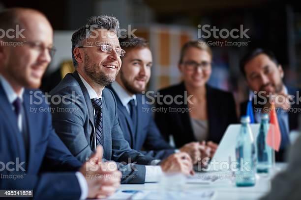 Business Gruppe Im Konferenzraum Stockfoto und mehr Bilder von 2015