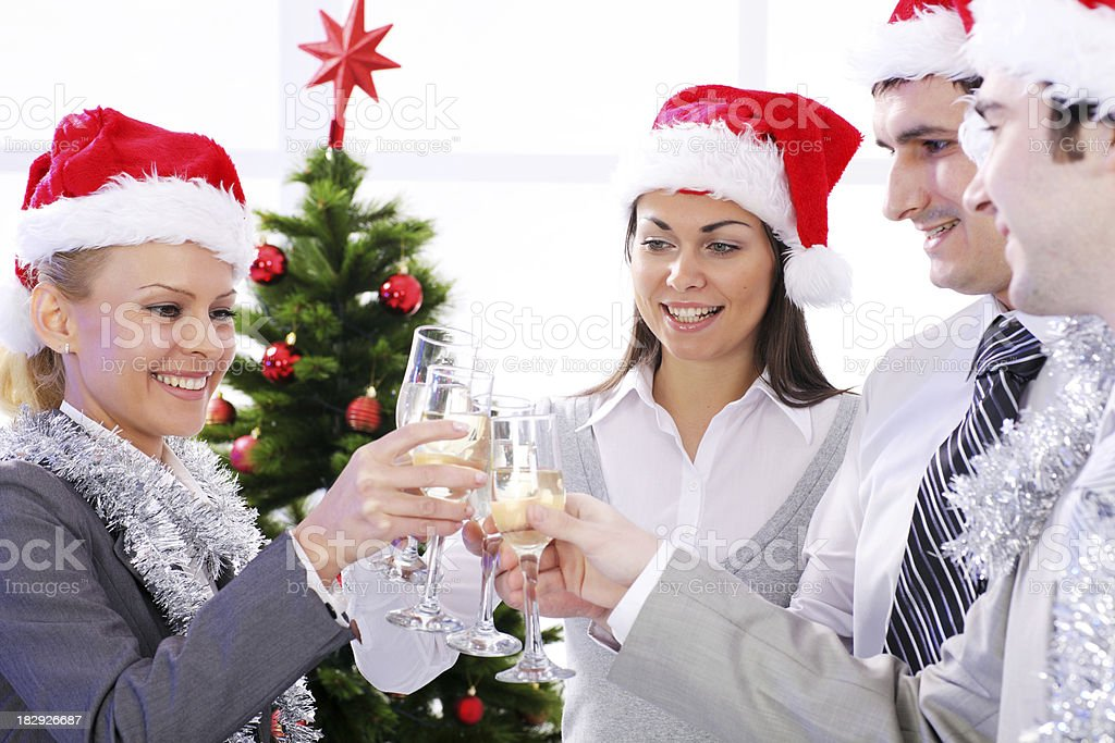 Business group celebrating success of the New Year holidays. royalty-free stock photo