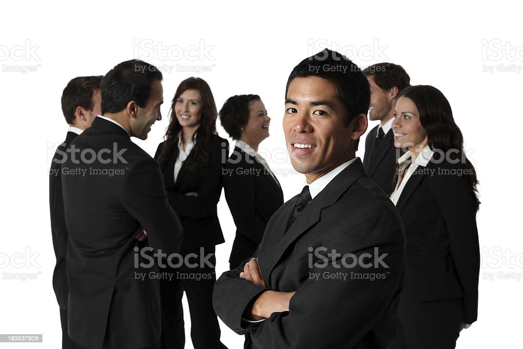 Business group chatting and mingling royalty-free stock photo