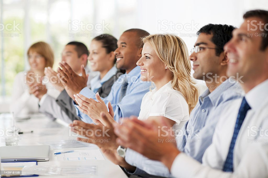 Business group clapping. royalty-free stock photo