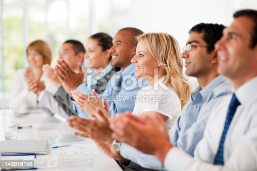 862718922 istock photo Business group clapping. 143918156
