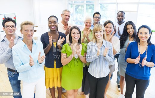 istock Business Group Clapping 486105183