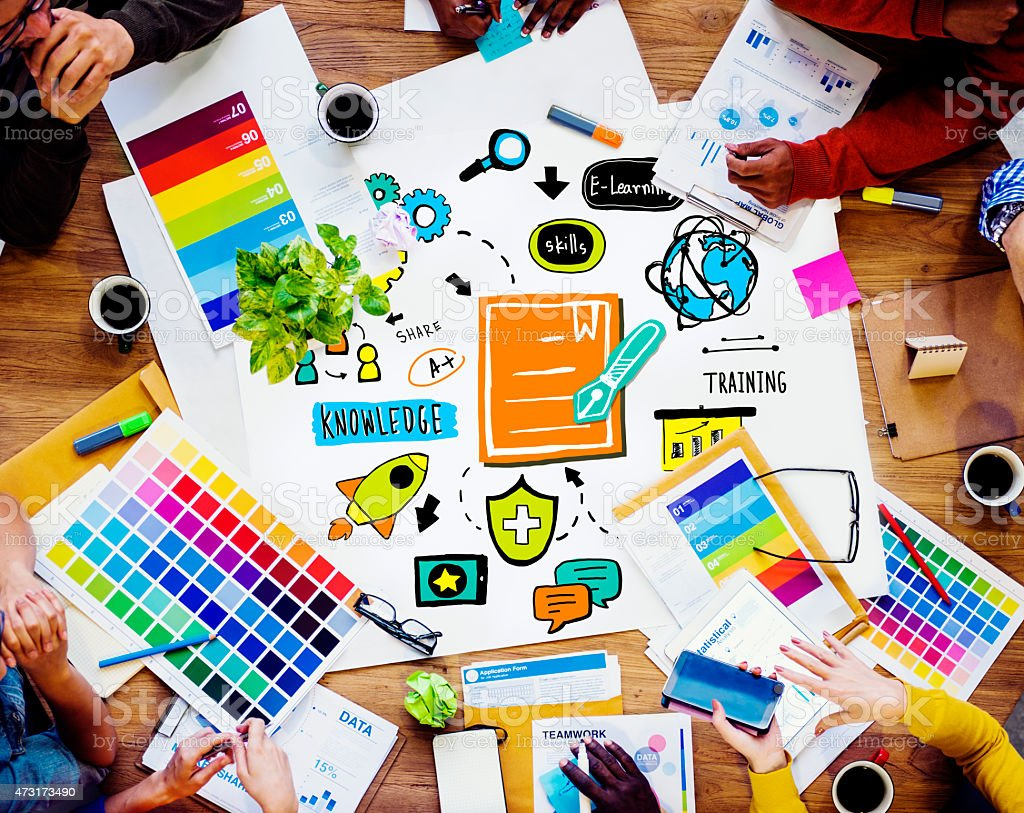 Business Group Creative Design Training Discussion Concept stock photo