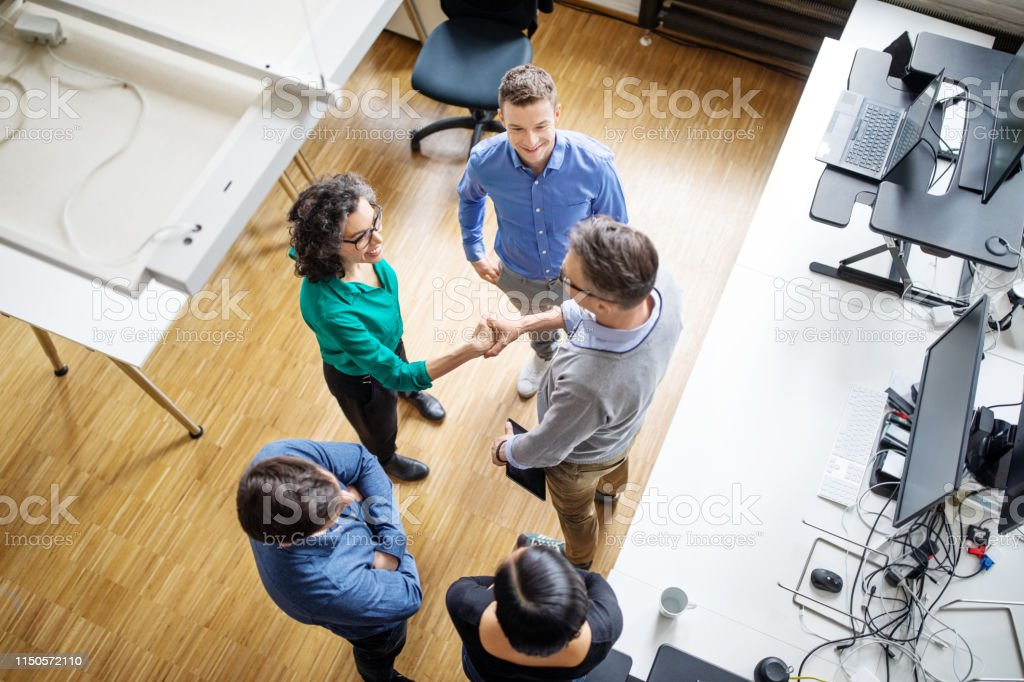 Business group during are strategy meeting - Royalty-free Achievement Stock Photo