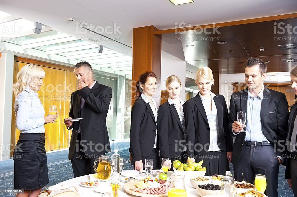 Business Group Having A Buffet Lunch royalty-free stock photo