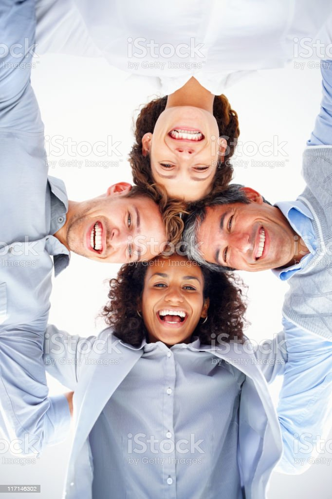 Business group in a huddle royalty-free stock photo