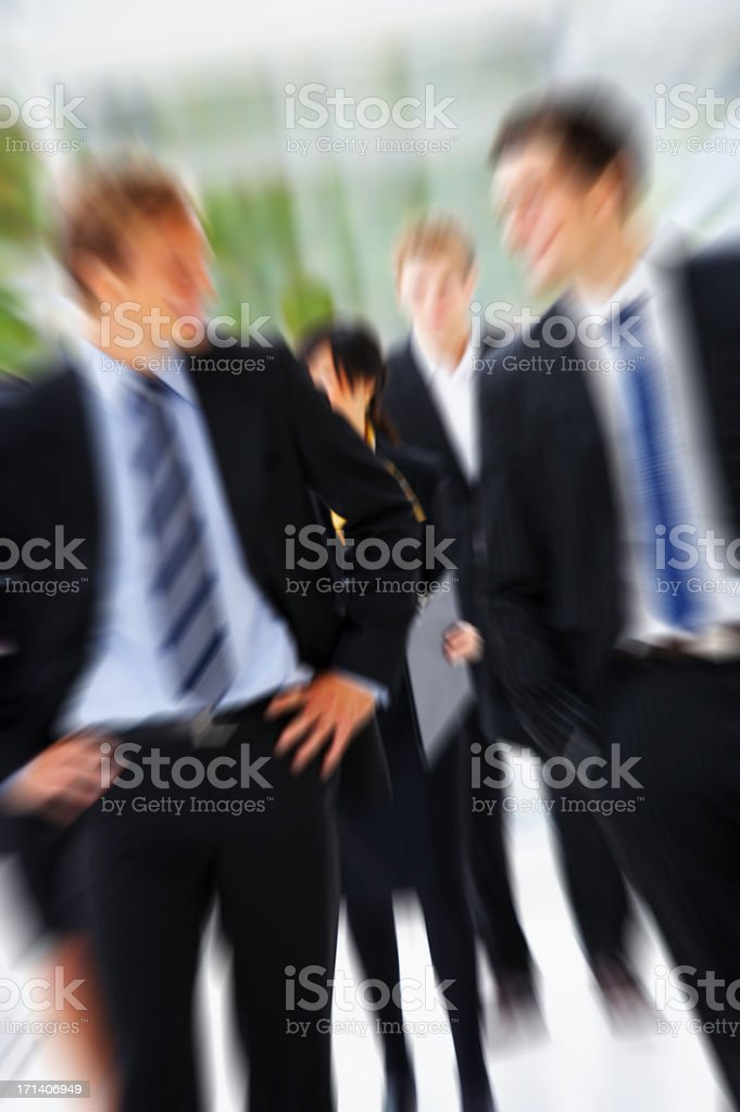 Business group in action royalty-free stock photo