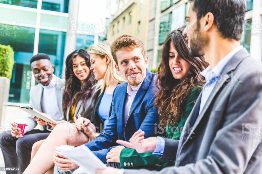 Business group meeting on a break zbiór zdjęć royalty-free