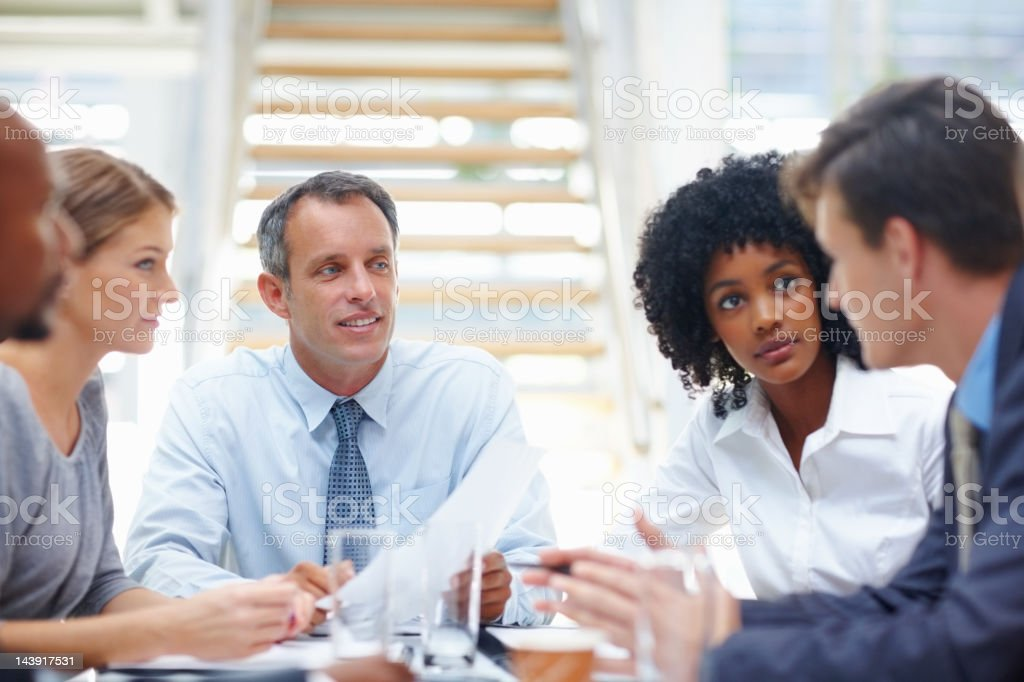 Business group meeting royalty-free stock photo