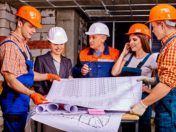 Business Gruppe Personen in builder Helm – Foto