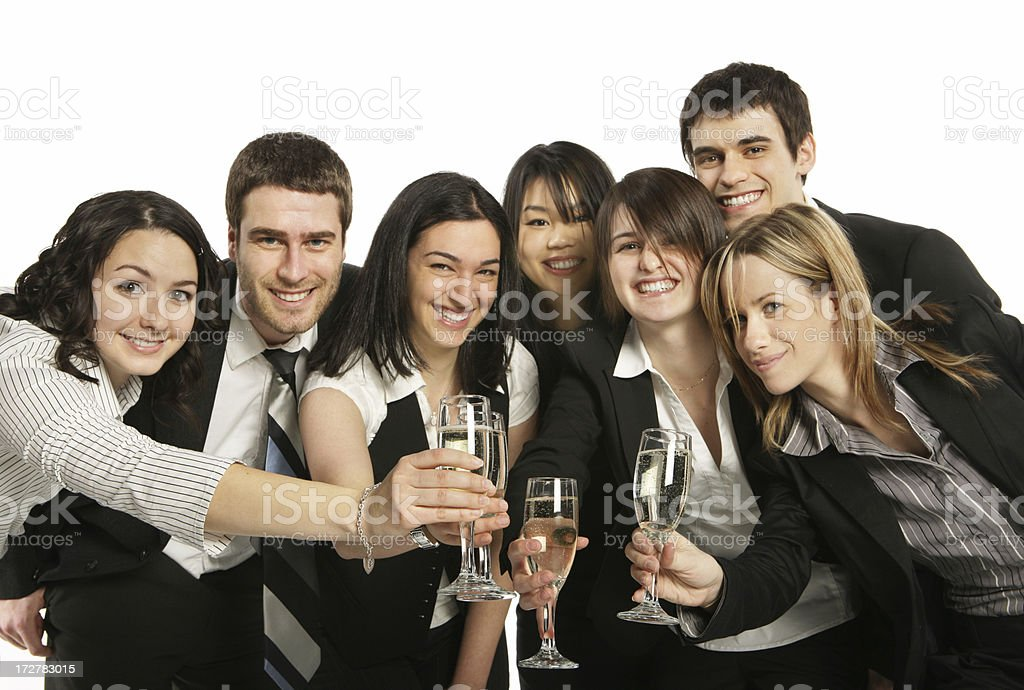 Business Group Toasting royalty-free stock photo