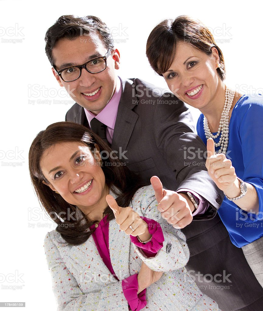 Business group with thumbs up royalty-free stock photo