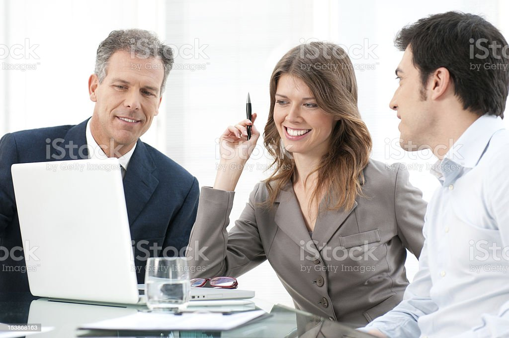 Business group working together royalty-free stock photo