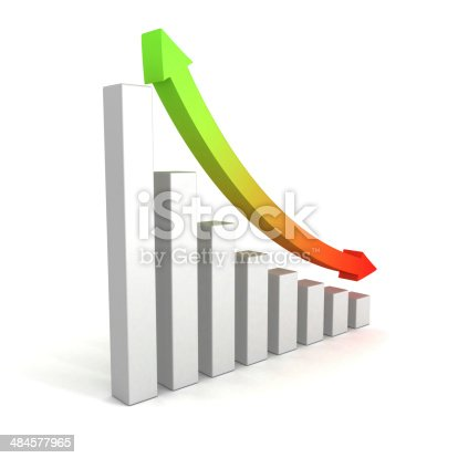 831745600istockphoto business growing bar chart with up down arrow 484577965