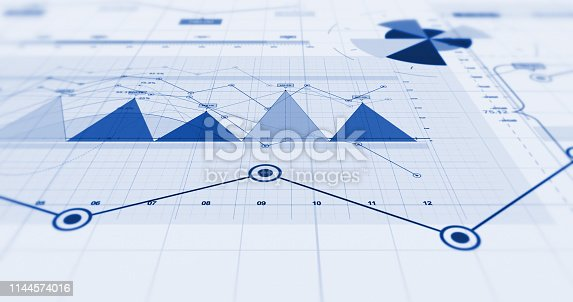 istock Business Growth And Success. Stock Market Infographics. 3D Illustration Render 1144574016