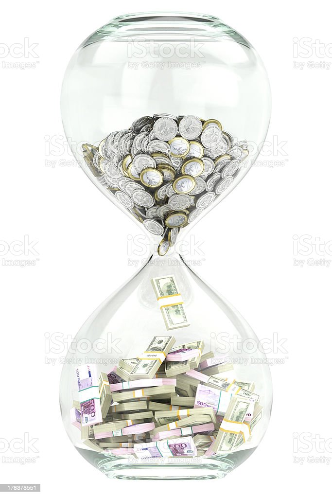 Business growth and wealth over time stock photo