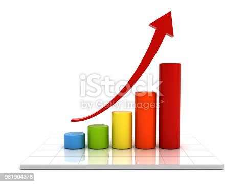 istock Business Growth Bar Graph Chart 961904378
