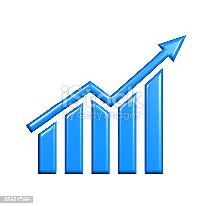 1014755036 istock photo Business Growth Bar Graph Curve. 3D Render Illustration 889845994