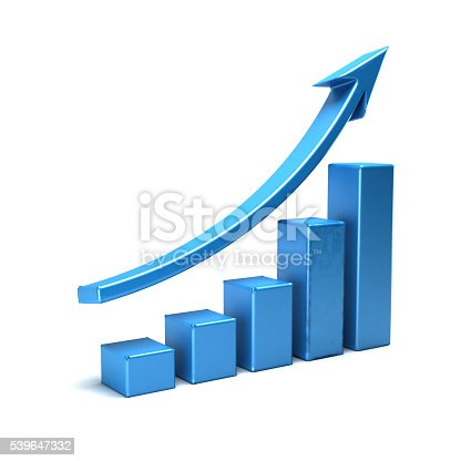 486678786 istock photo Business Growth Bar Graph Curve Illustration 539647332