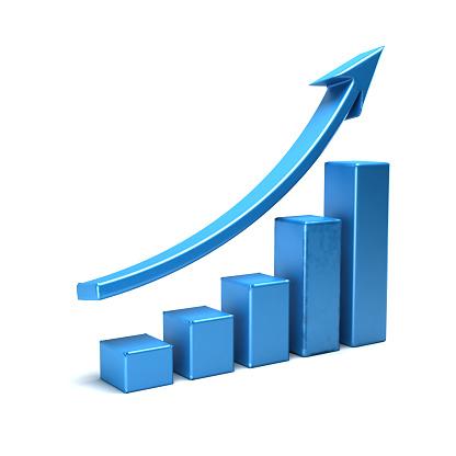 istock Business Growth Bar Graph Curve Illustration 539647332