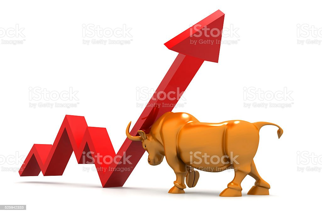 Image result for cute bull chart image stock