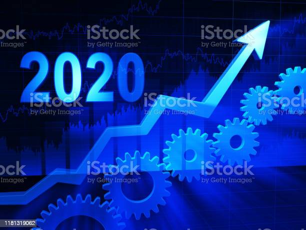 Business growth concept year 2020