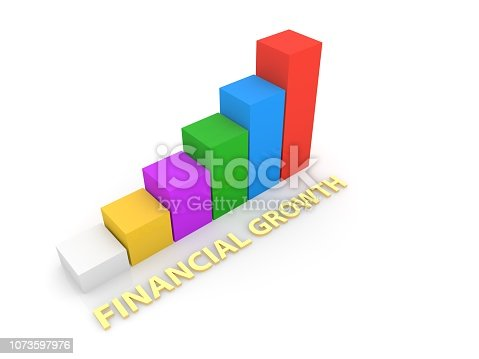 istock Business growth graph . 1073597976