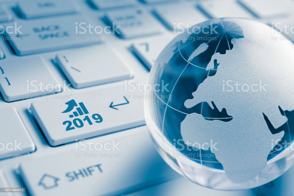 Business growth in 2019 year stock photo