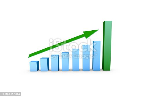 1149620931istockphoto Business Growth Increasing Chart with Green Arrow 1150957944