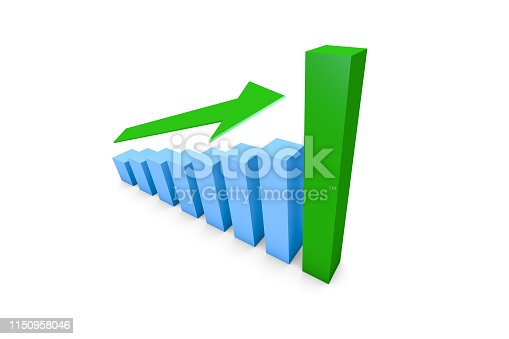 1149620931istockphoto Business Growth Increasing Chart with Green Arrow 1150958046