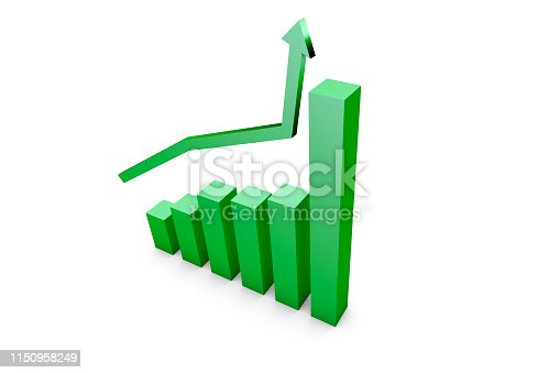 1149620931istockphoto Business Growth Increasing Chart with Green Arrow 1150958249