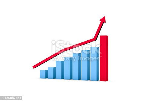 1149620931istockphoto Business Growth Increasing Chart with Red Arrow 1150957131