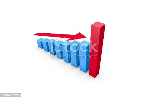 1149620931istockphoto Business Growth Increasing Chart with Red Arrow 1150957226