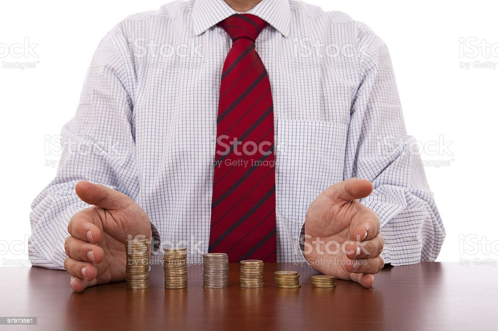 Business growth protection royalty-free stock photo
