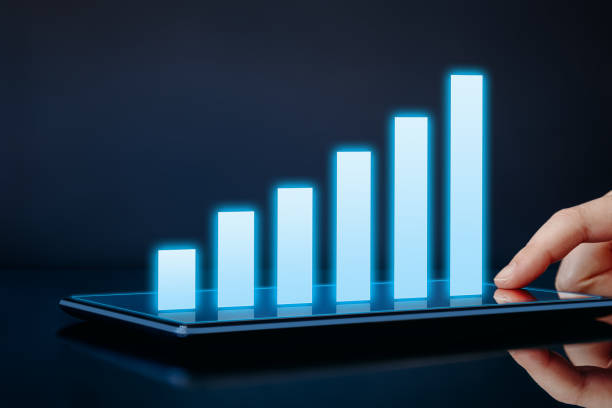 Business growth, success or development concept stock photo