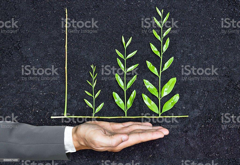 Unternehmenswachstum mit csr Lizenzfreies stock-foto