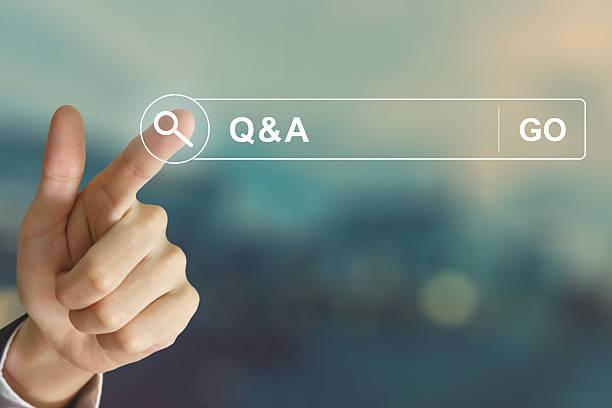 Geschäft Hand auf F &  A oder Frage und Antwort