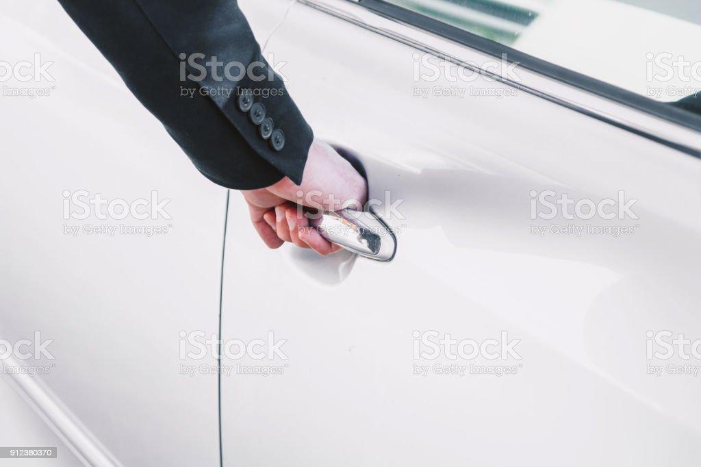 Car door handle hand Woman Business Hand Opening Passenger Door On Car Door Handle Stock Image Istock Business Hand Opening Passenger Door On Car Door Handle Stock Photo