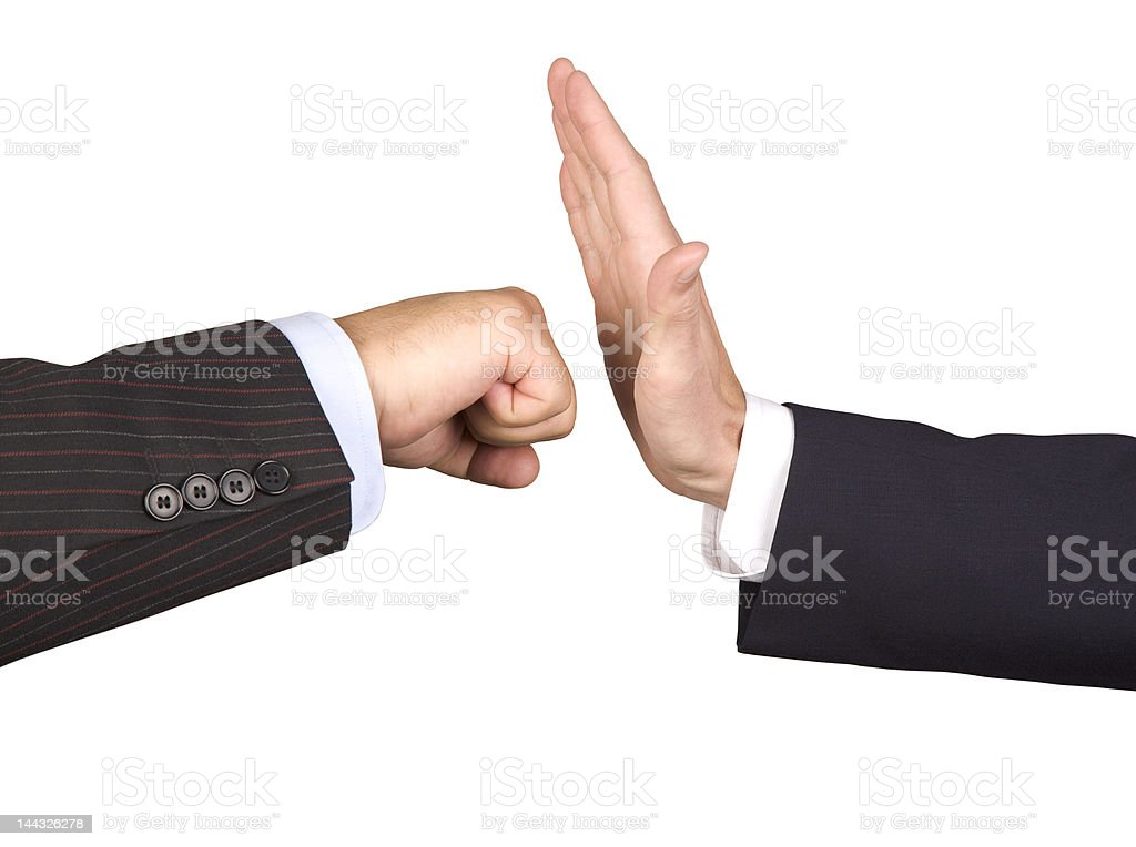 Business Hands Fihgt royalty-free stock photo