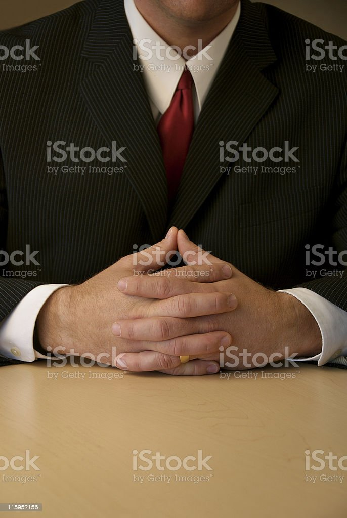 Business hands folded royalty-free stock photo