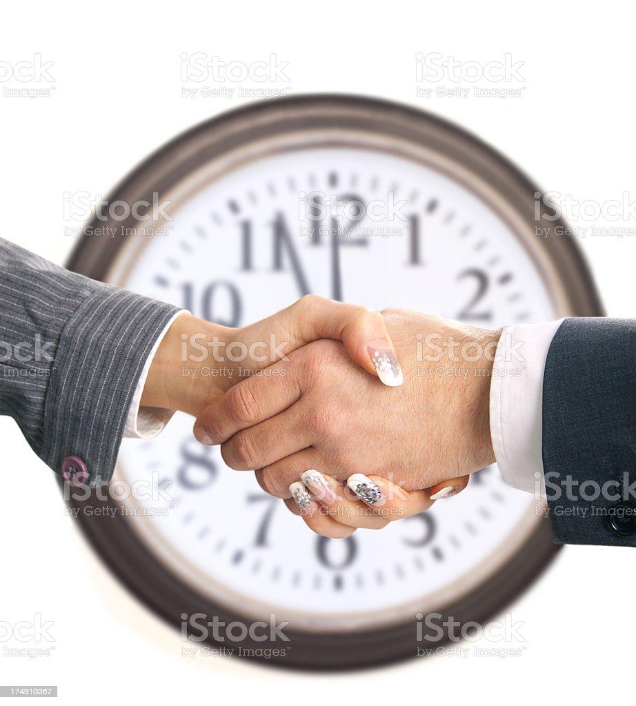 Business handshake agreement royalty-free stock photo