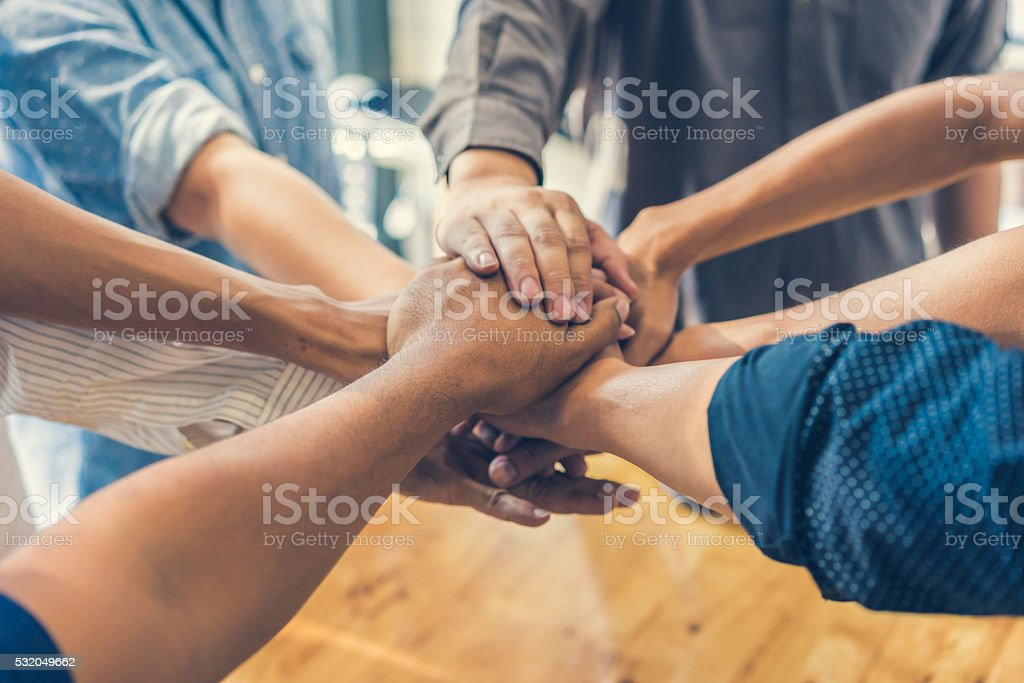 Business handshake and business people royalty-free stock photo
