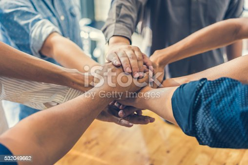 istock Business handshake and business people, soft focus, vintage tone 532049662