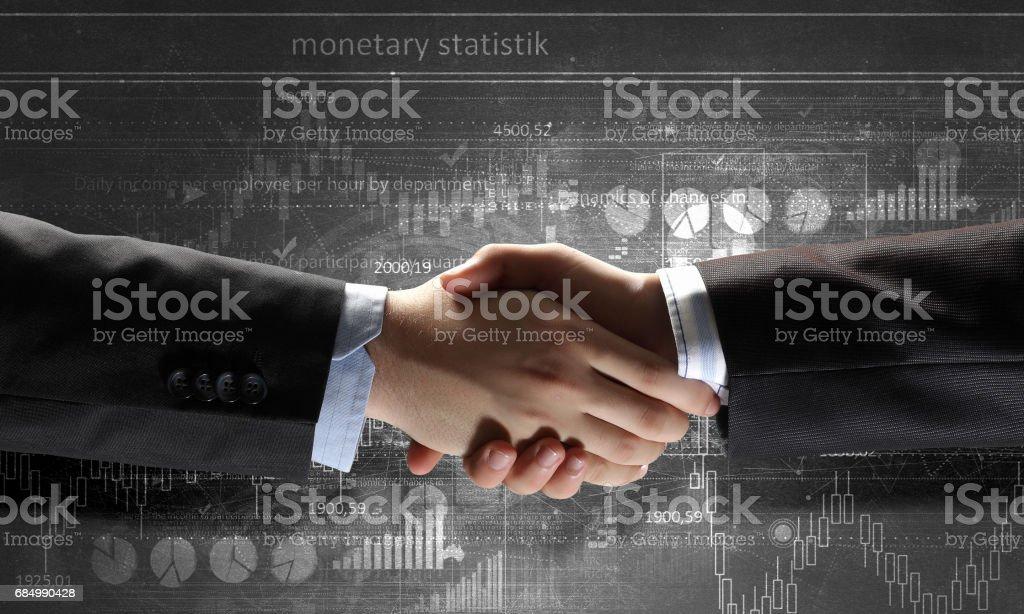 Business handshake as symbol for partnership Lizenzfreies stock-foto