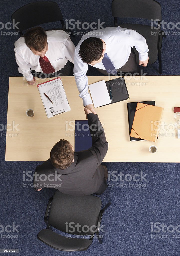 business handshake at the meeting - Royalty-free Adult Stock Photo