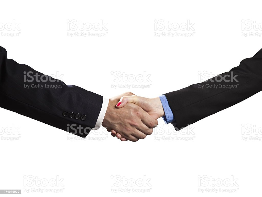 Business handshake deal royalty-free stock photo