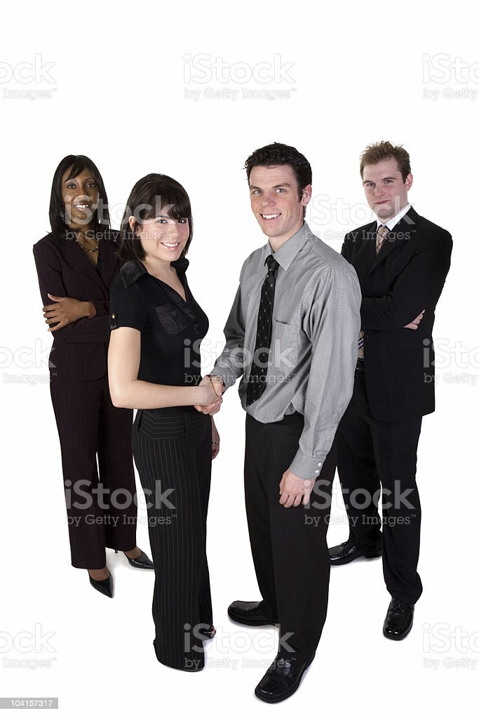 Business handshake - full length royalty-free stock photo